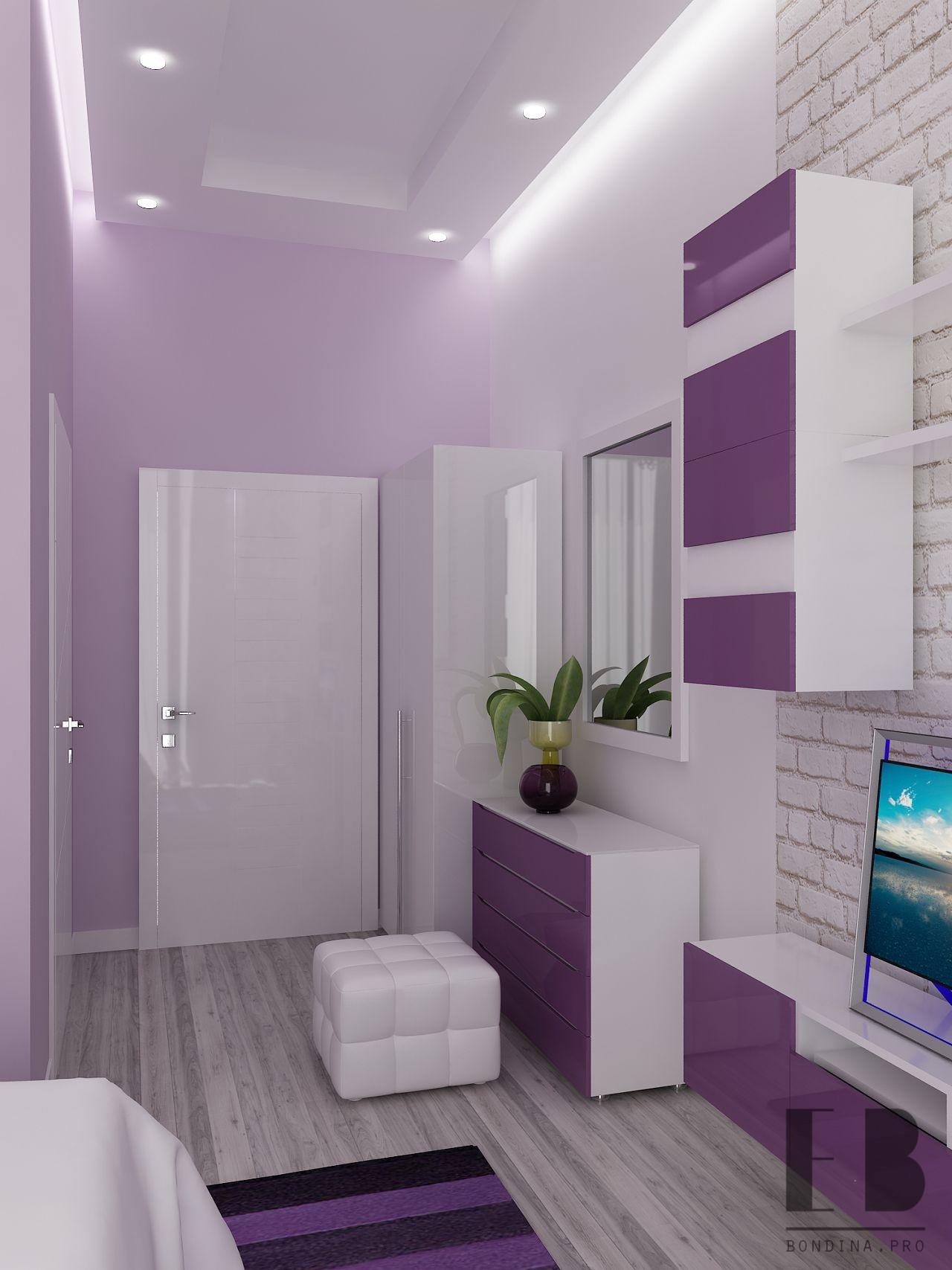 delicate purple bedroom  interior design ideas