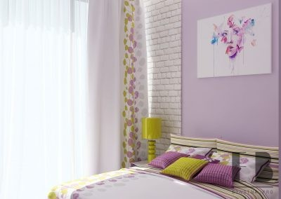 Delicate purple bedroom