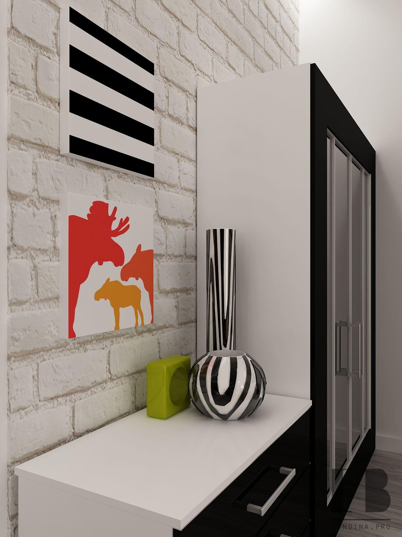 Zebra in the interior