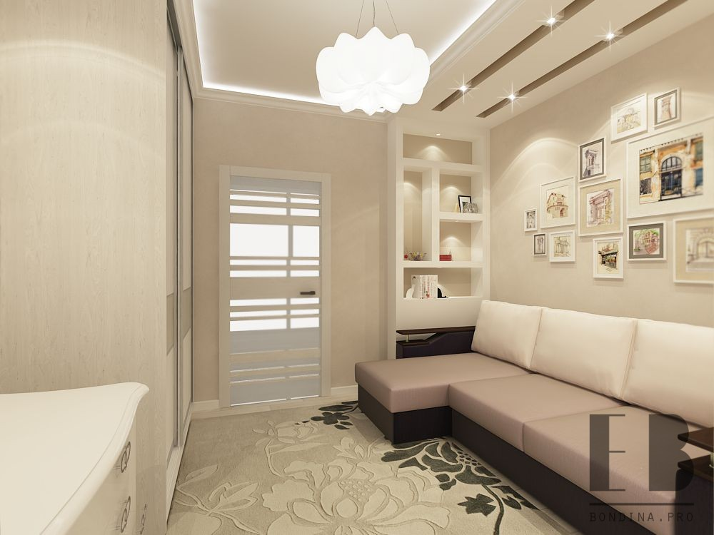 Apartment design for a young family