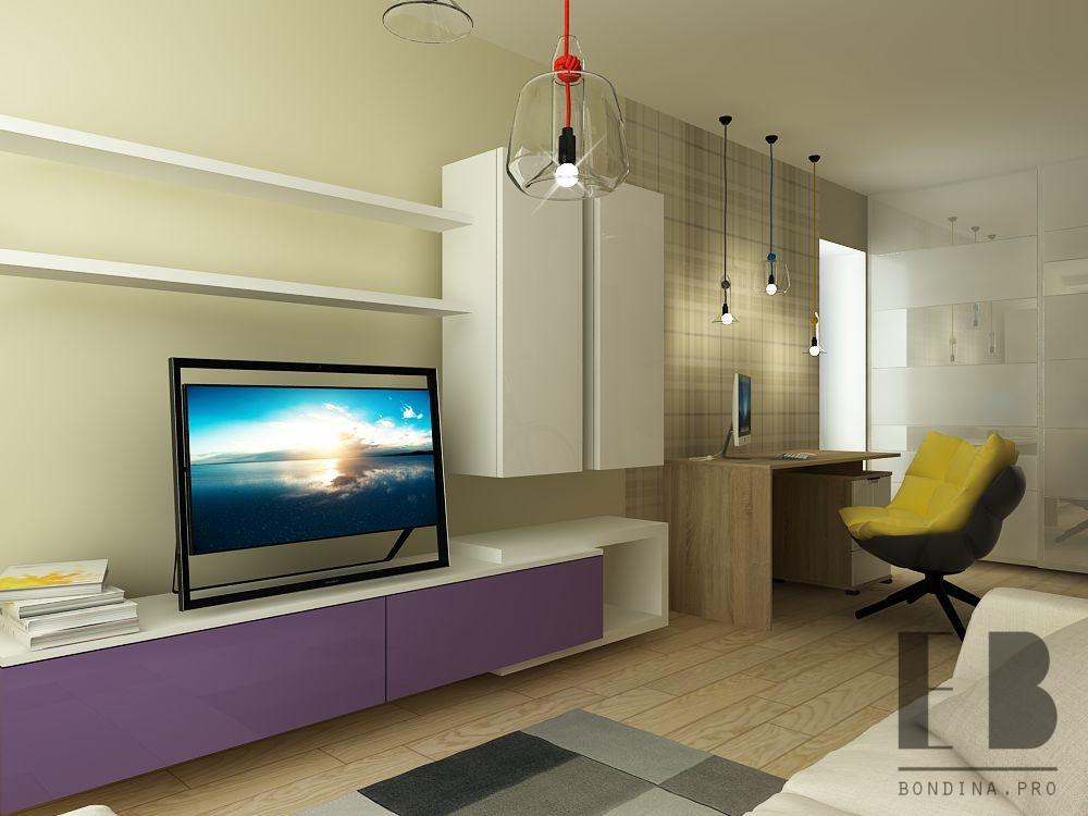 One-room apartment design
