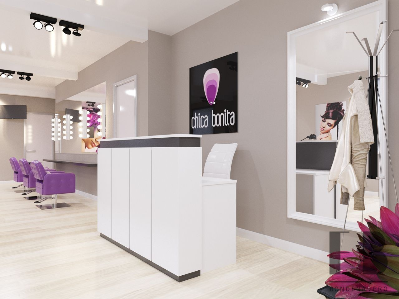 Reception in the nail salon design