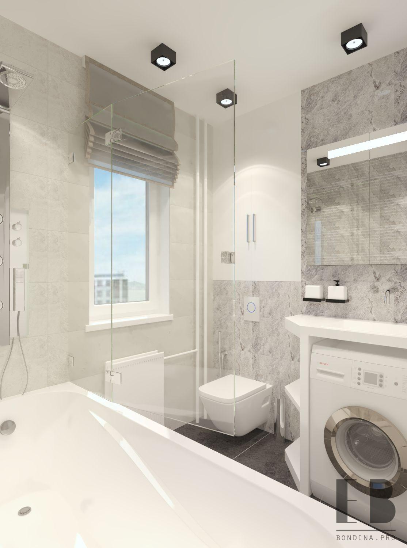 Light grey and white bathroom design