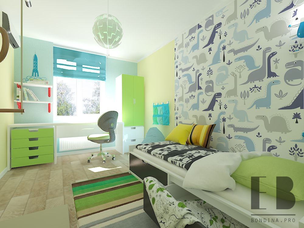 Dinosaur bedroom for boys design
