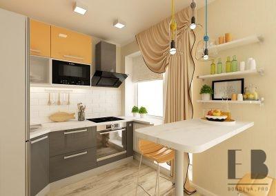 Квартира студия дизайн в бежевых тонах