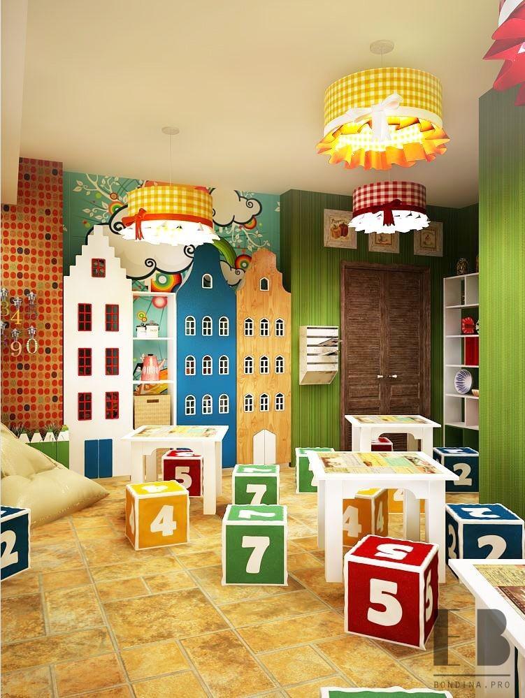 Детская комната в пиццерии интерьер
