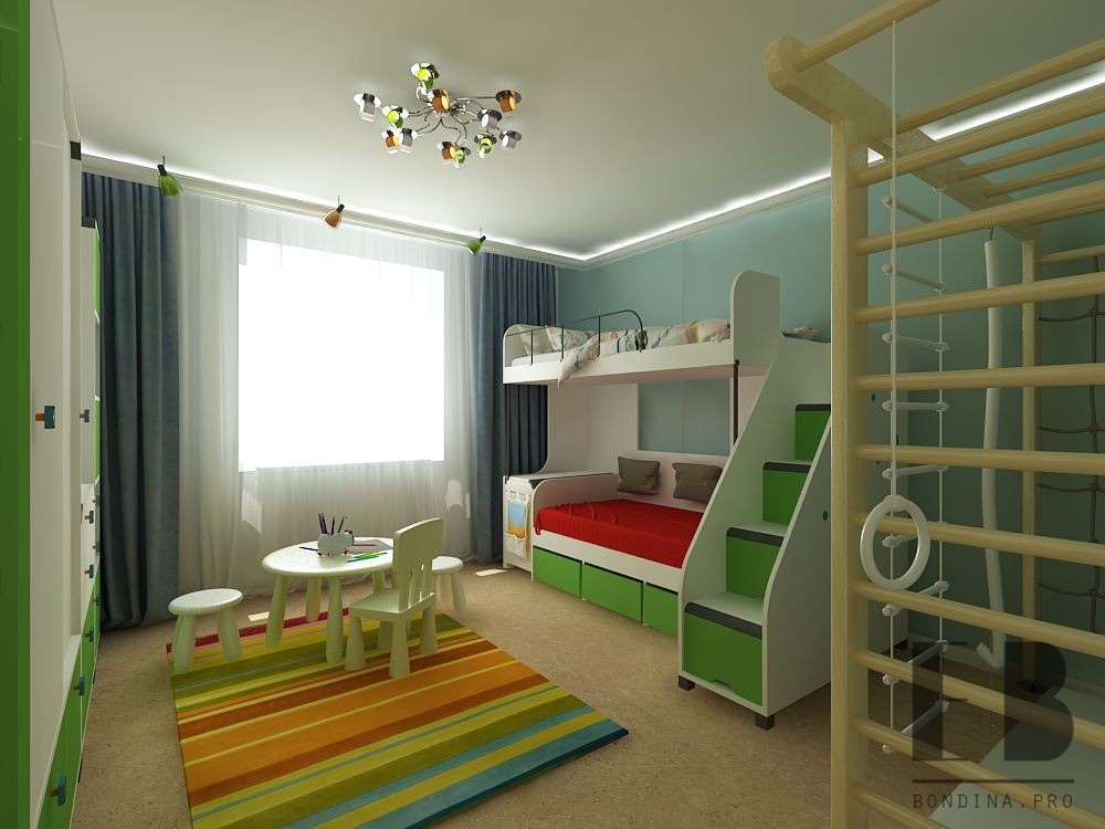 Bright kids room interior design