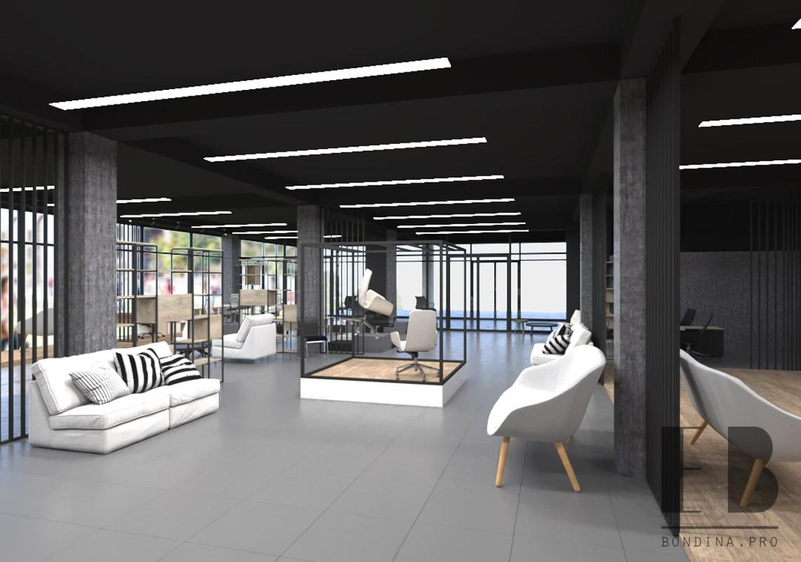 Furniture store showroom interior design