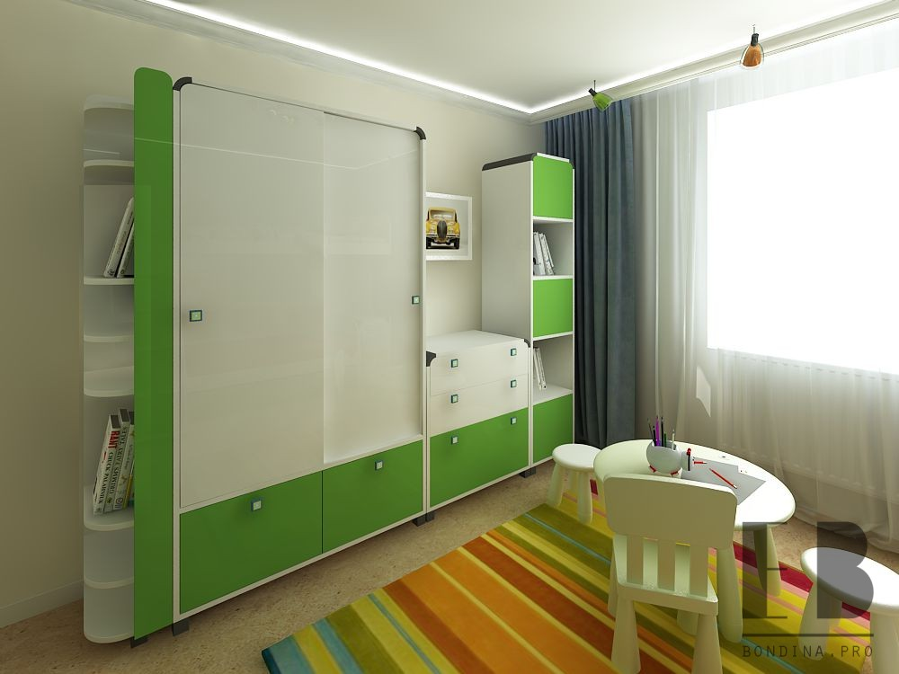 Children's wardrobe for two design