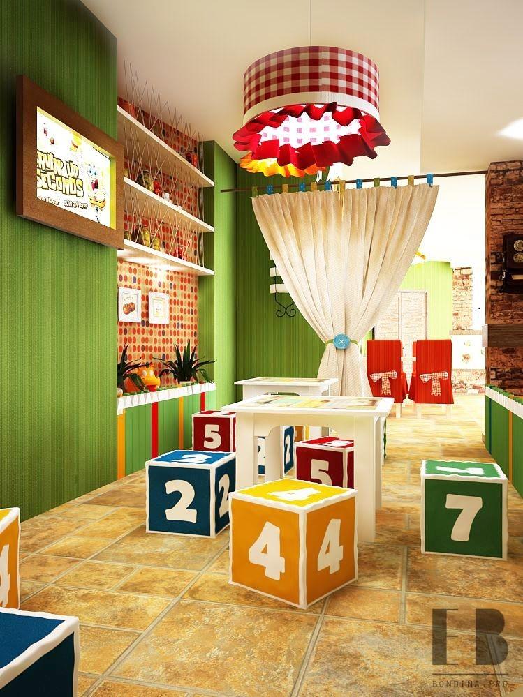 Столики для детей в пиццерии дизайн