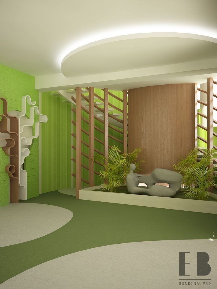 Modern office interior with plants and good mood