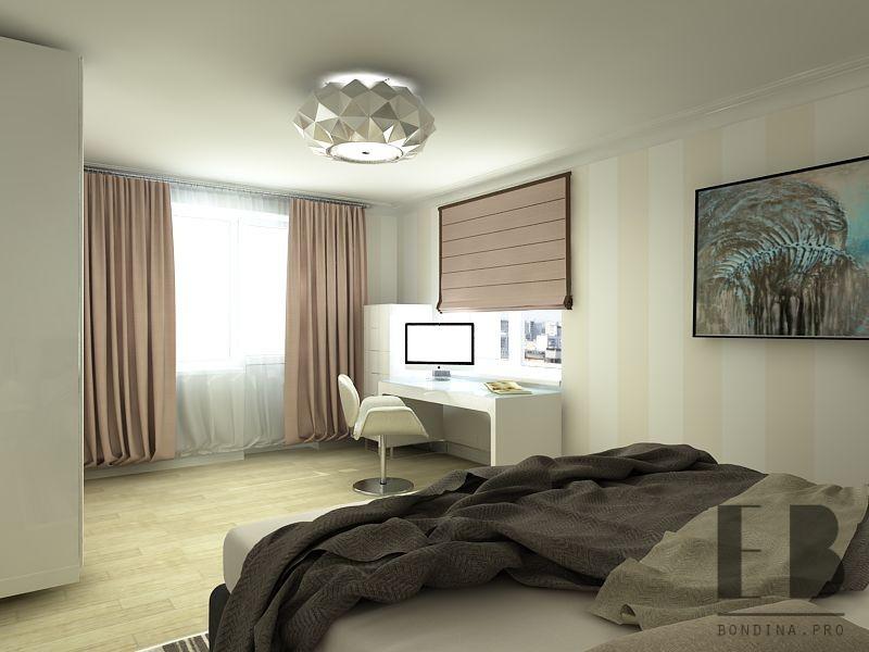 Рабочий стол в спальне дизайн