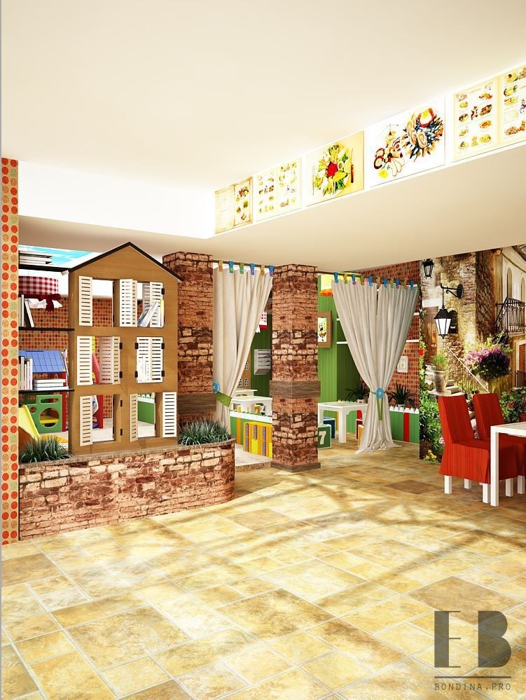 Entrance to the area for children design