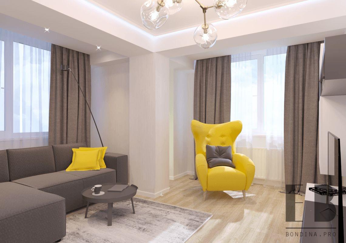 Дизайн проект, дизайн интерьера 3 комнатной квартиры