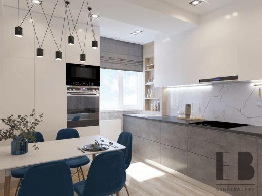 Дизайн 3 комнатной квартиры в современном стиле