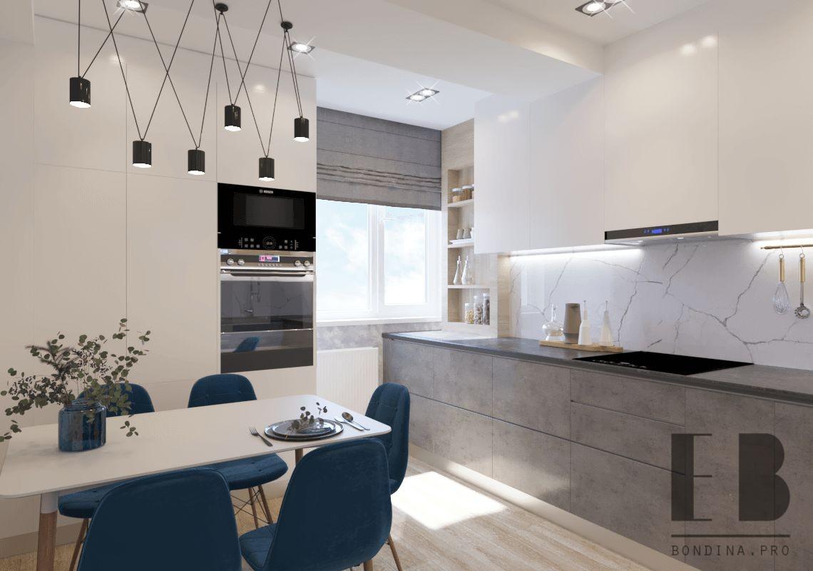 Скандинавский дизайн современной кухни