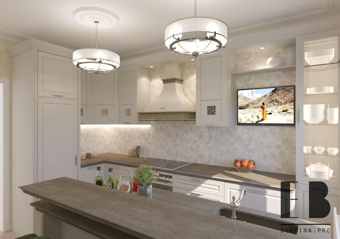 Классическая белая кухня дизайн
