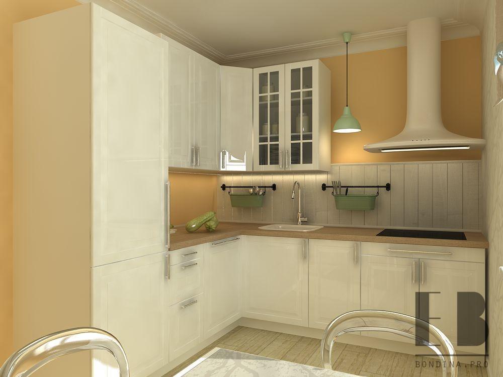 Дизайн кухни в трехкомнатной кварттире