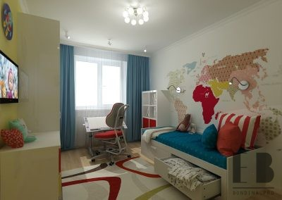 Bright and colorful kids bedroom design