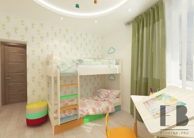 Wonderful shared kids room design