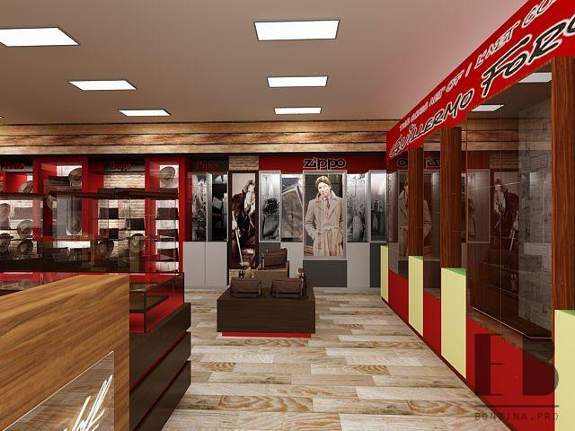Витрины в бутике табачных изделий дизайн