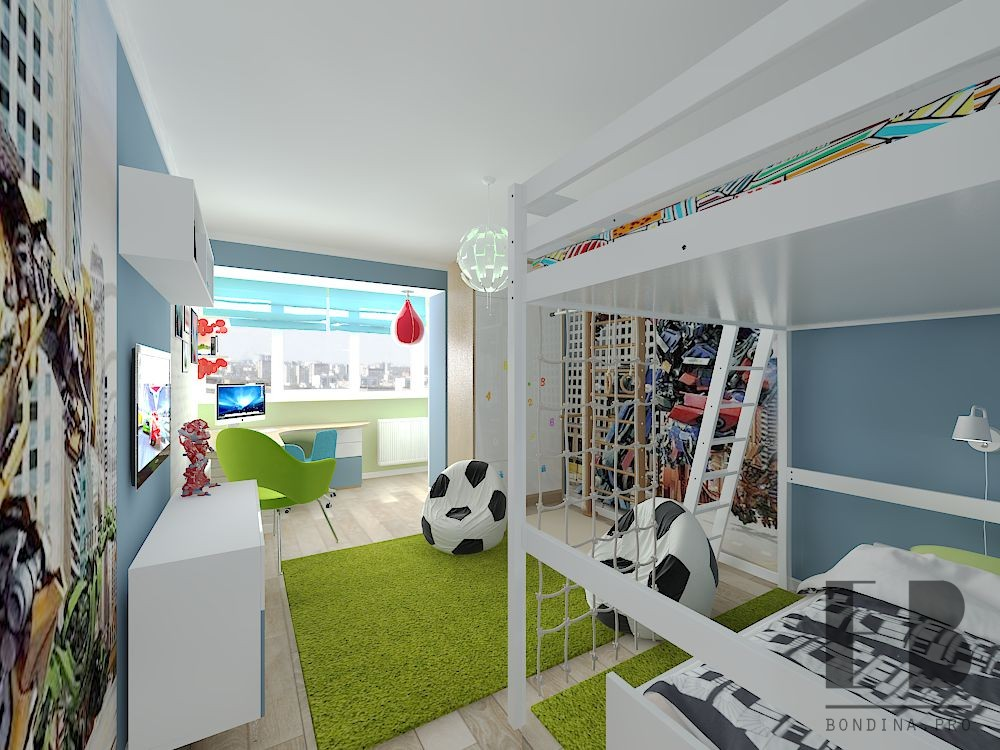 Room for two boys interior design