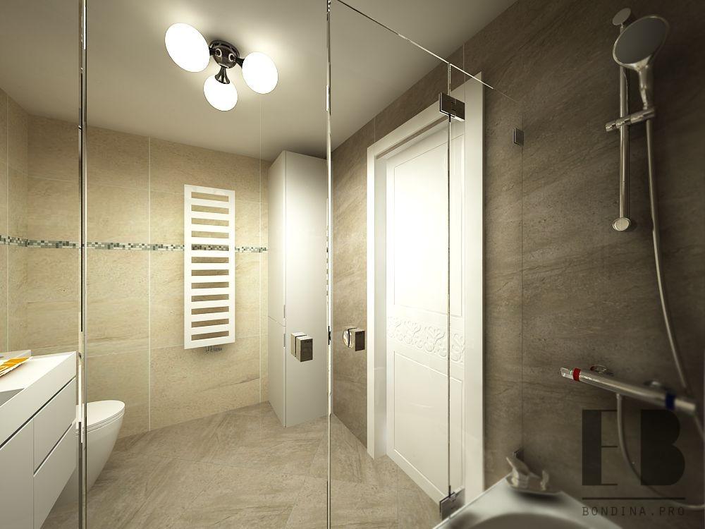 Зеркальная дверь для ванной дизайн интерьера