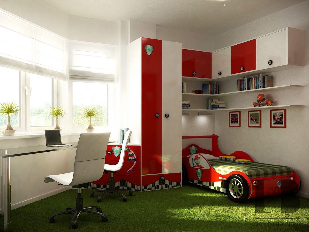 Kids room race interior design