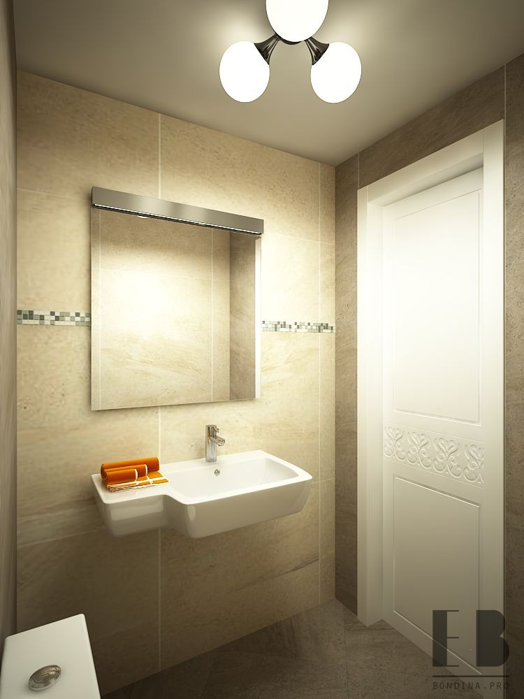 Mirror to the bathroom design