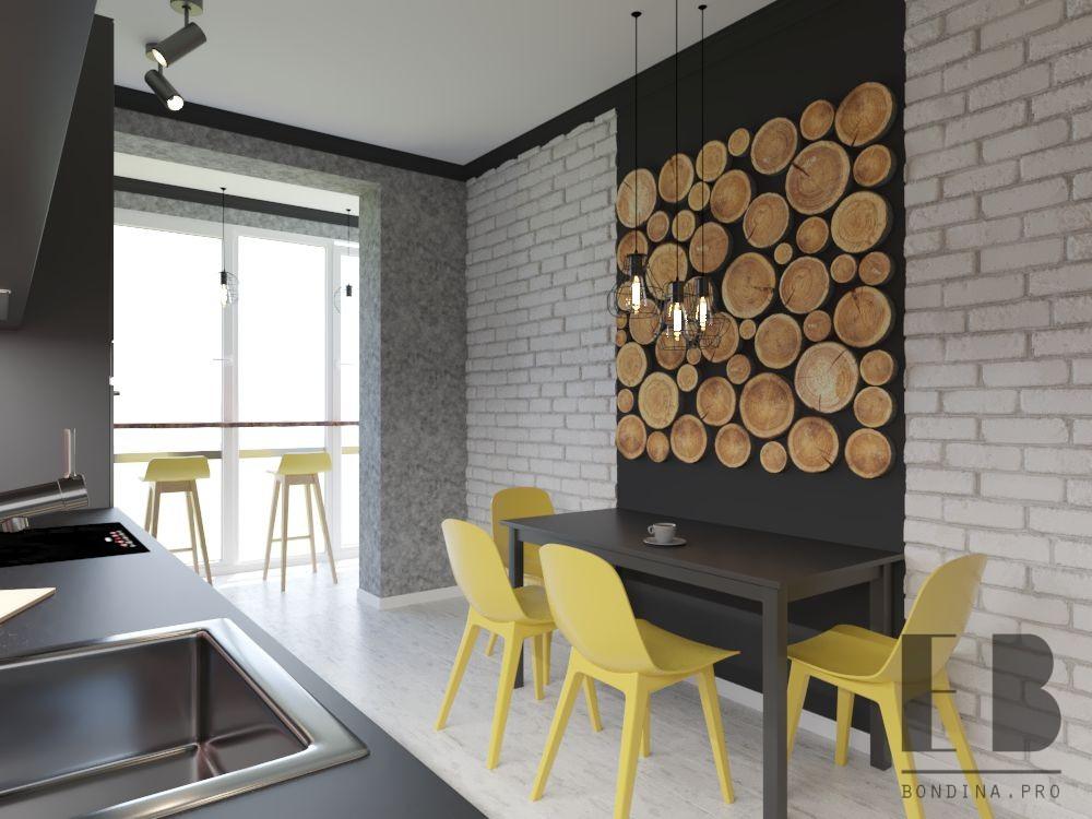 Кухня в стиле ЛОФТ №1