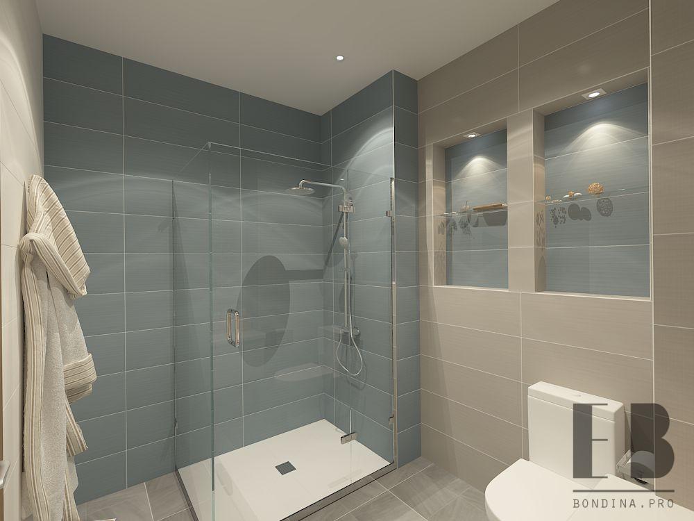 Интерьер ванной в спокойных тонах