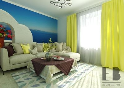Modern Coastal Living Room Design