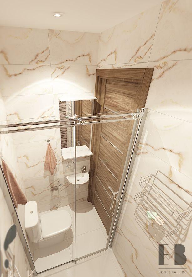 Интерьер ванной в теплых тонах