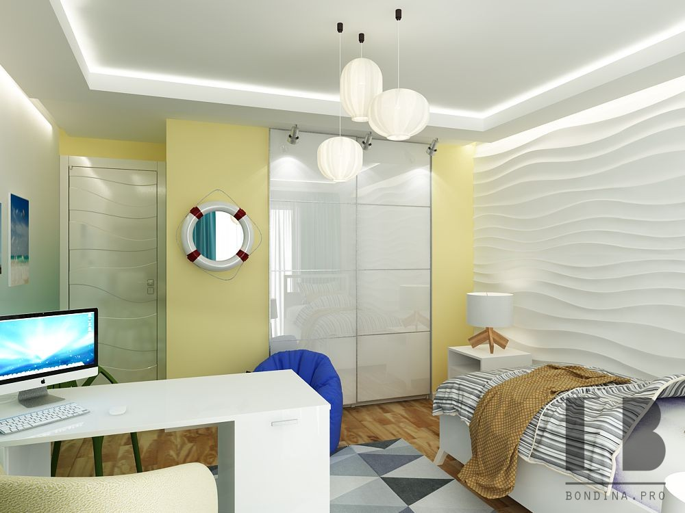 Beach themed bedroom for teenager design