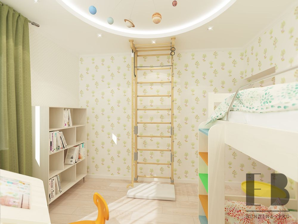 Wonderful shared kids room design