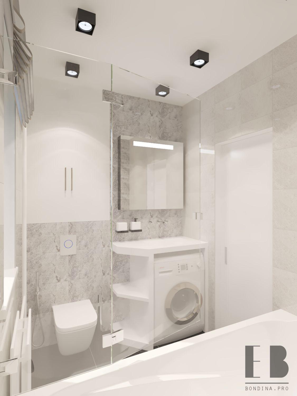 Delicate Gray bathroom design