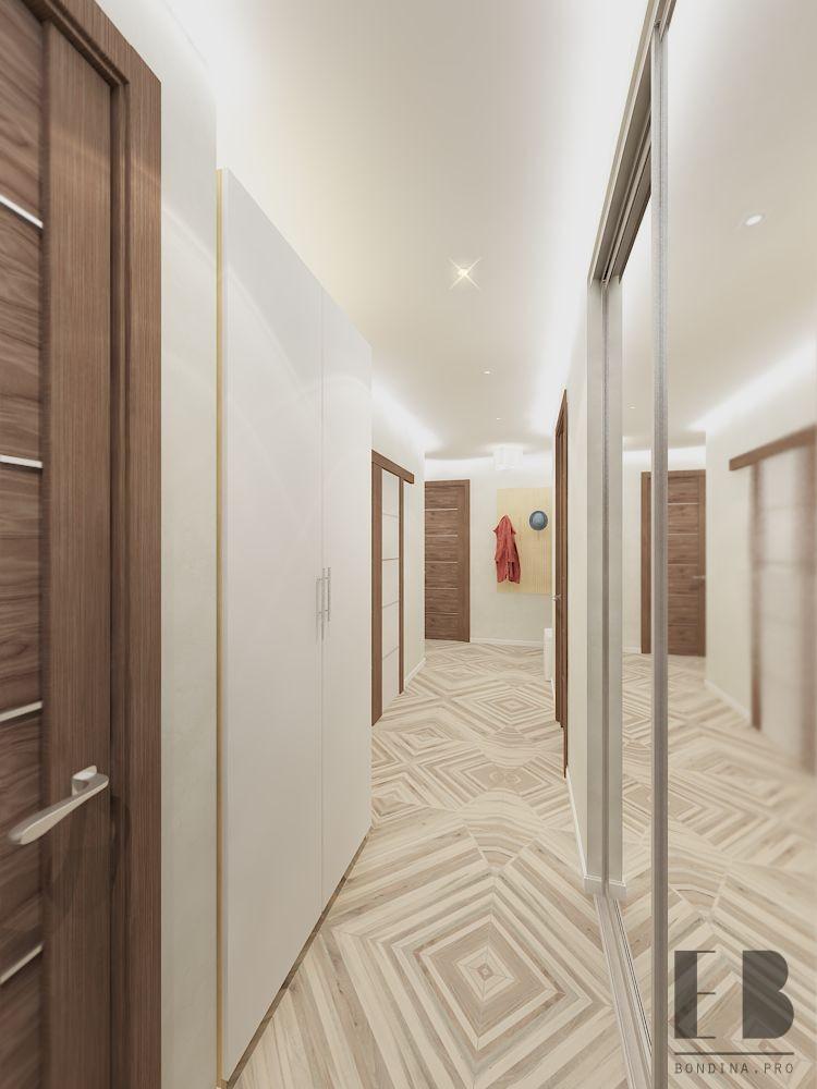 Hallway interior in bright colors