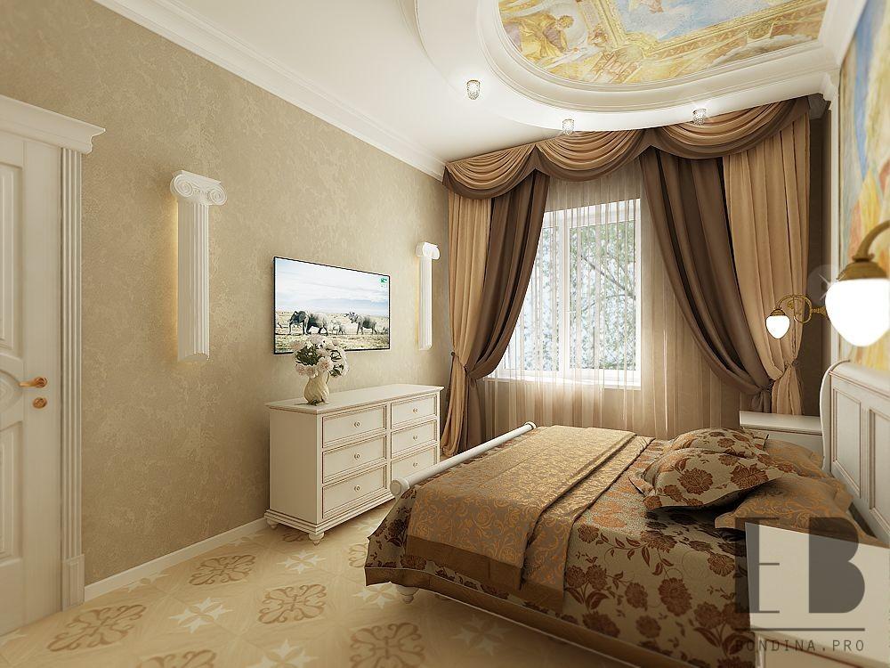 Дизайн интерьера бежевой спальни