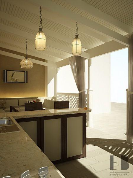 Мини-кухня дизайн веранды