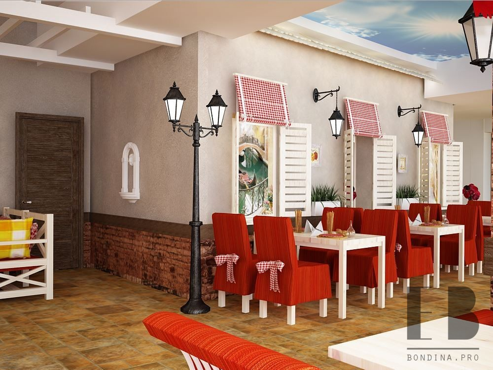 Дизайн с яркой мебелью