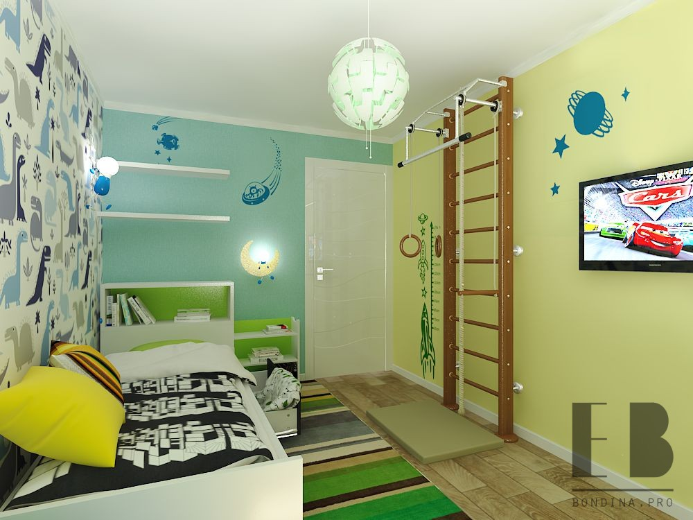 Design a children's room for a boy