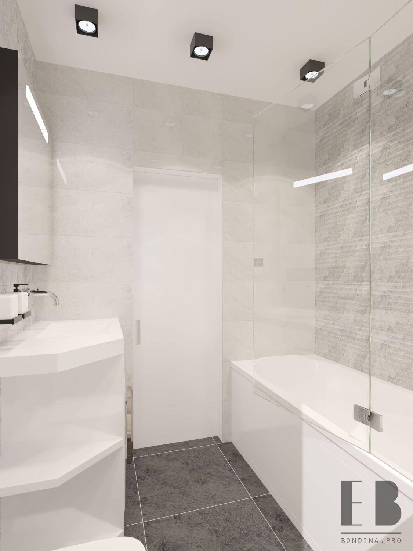 Light gray small bathroom design