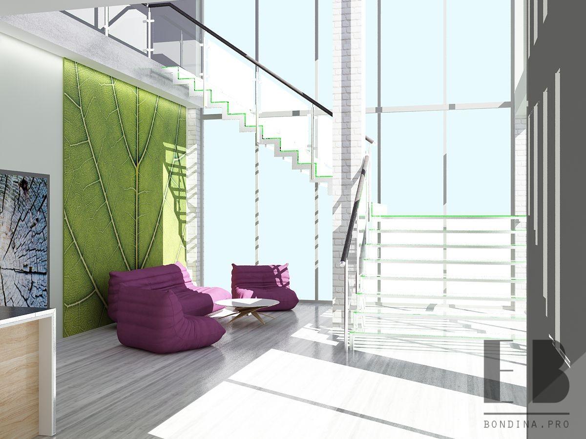 Стеклянная лестница в отеле дизайн