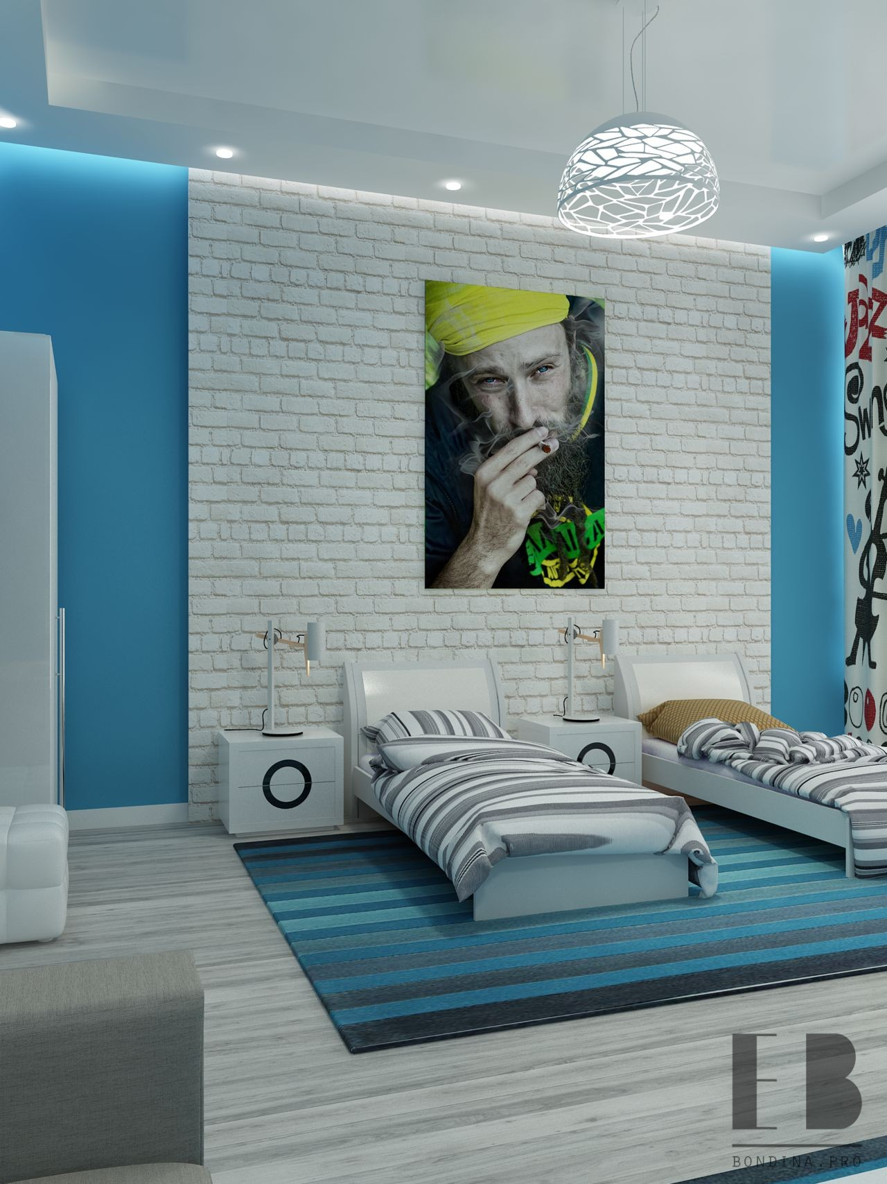 Дизайн интерьера комнаты подростков