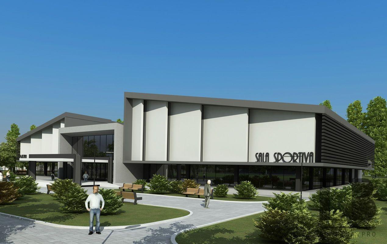 Sports complex main entrance