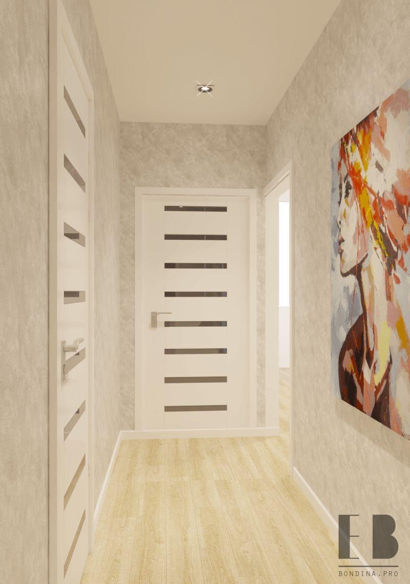 Коридор в трехкомнатной квартире интерьер