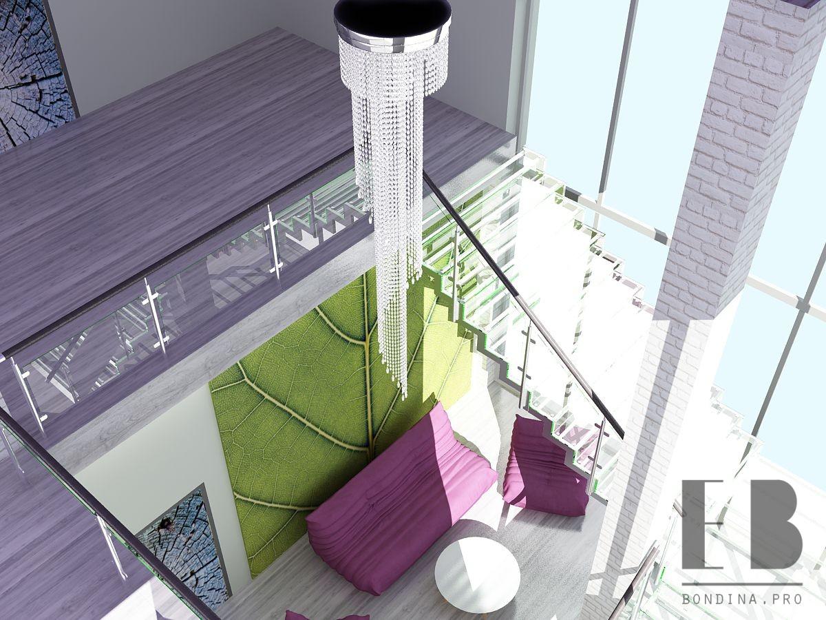 Дизайн интерьера холла гостинницы