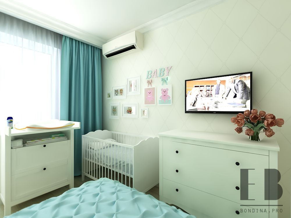 Room for baby and parents interior