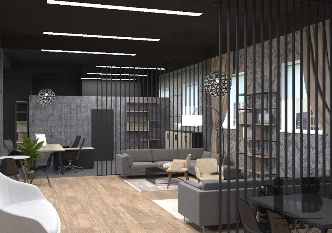 Interior in gray tori
