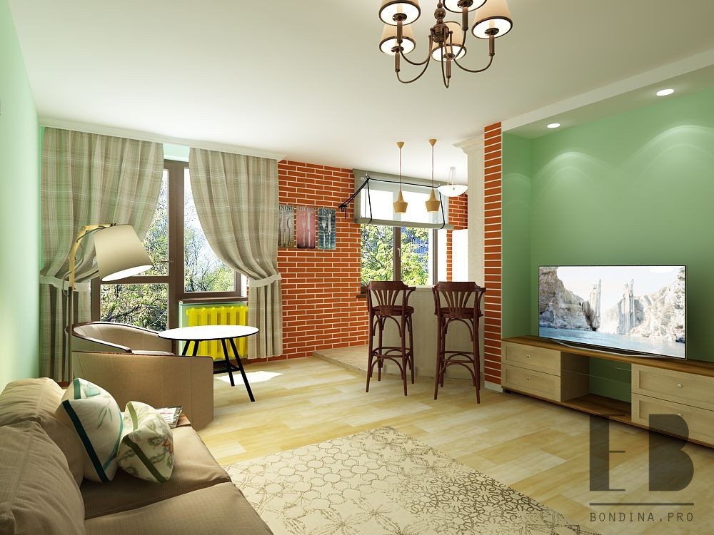 Design of a modern living room